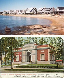Clean Long Island Sound beaches and historic sites, like the E.C. Scranton Memorial Library, make Madison a popular tourist destination.
