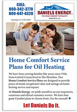 Oil Heating Service Plan brochure